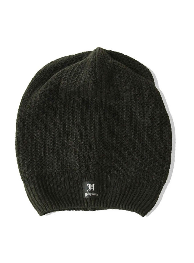 Hemptique hemp beanie long black