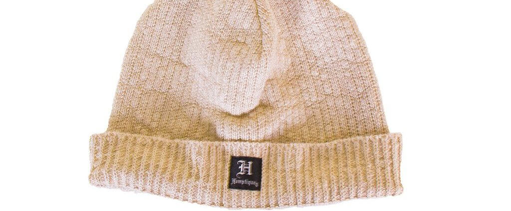 Hemptique hemp beanie short natural