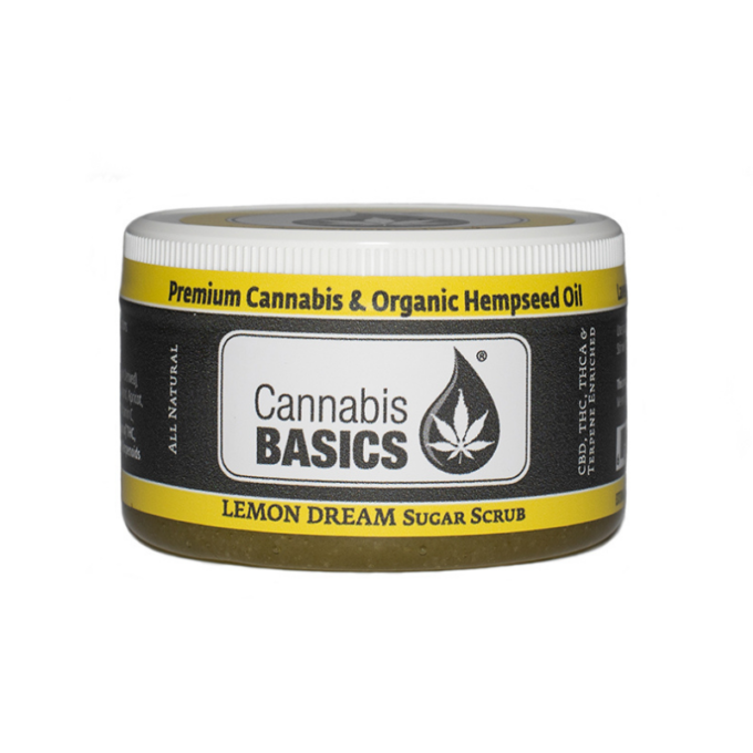 cannabis basics cbd lemon sugar scrub