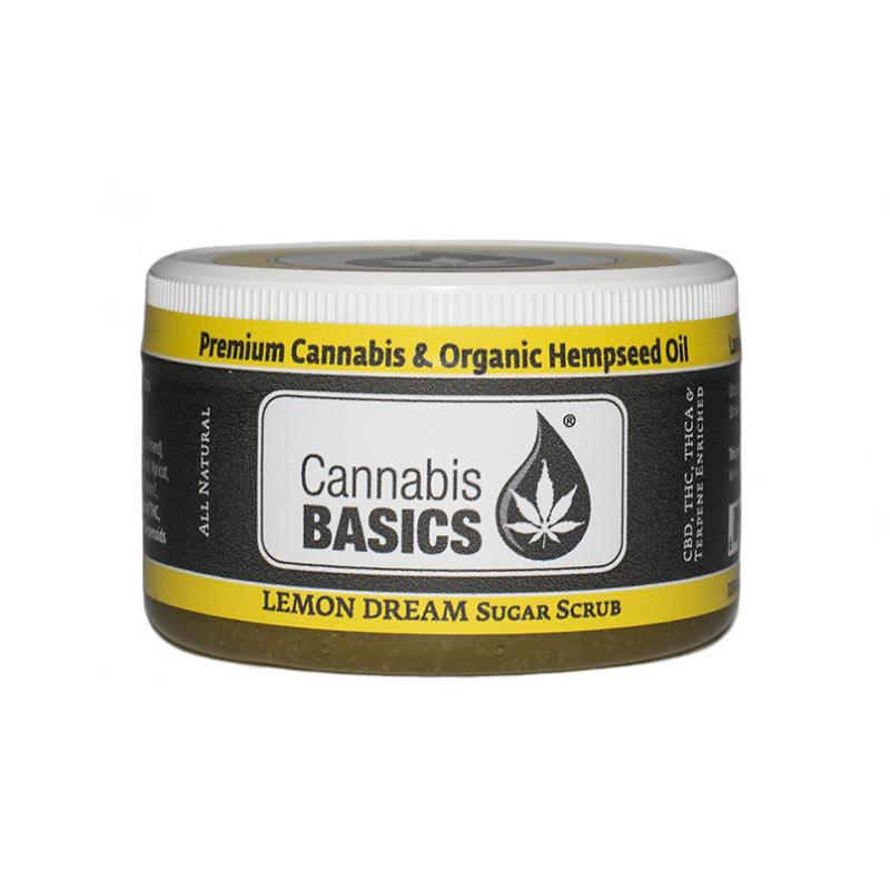 cannabis basics cbd lemon sugar scrub