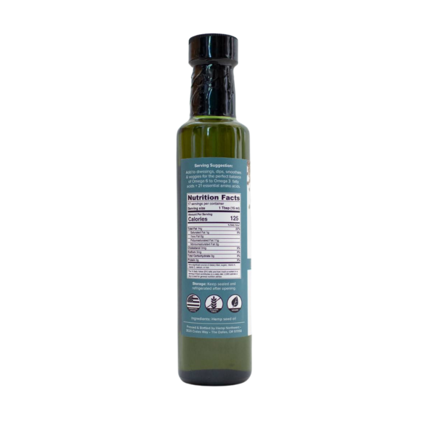 queen of hearts hemp seed oil 250 ml nutrition facts