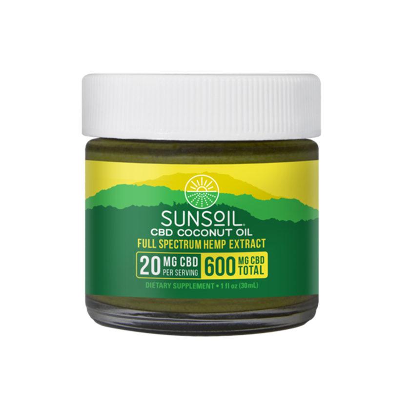 Sunsoil Organic CBD Coconut Oil Full Spectrum