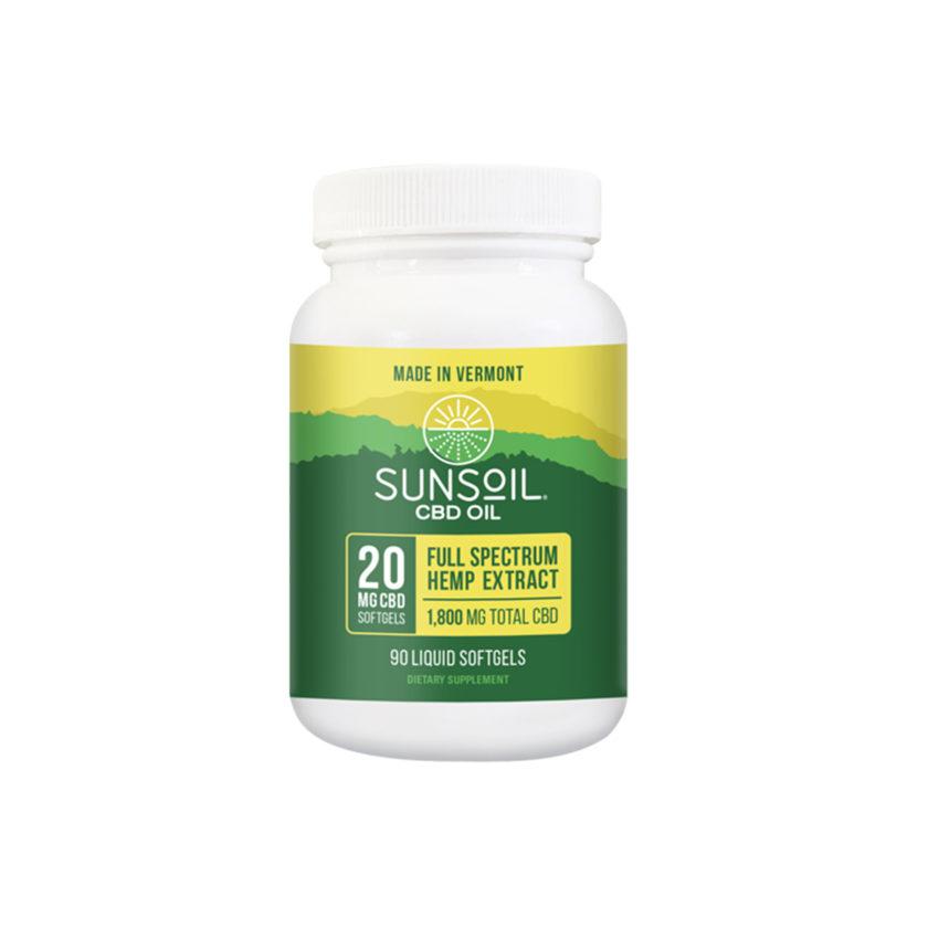 Sunsoil Organic CBD Softgels Full Spectrum