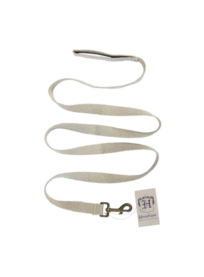 Hemptique dog leash made out of hemp canvas