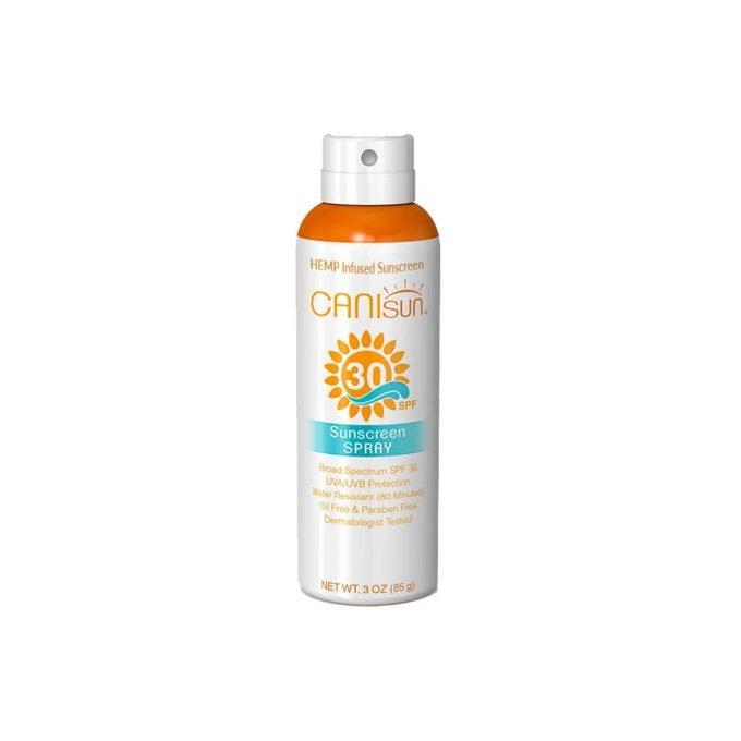 A can of CaniSun 30 SPF spray sunscreen