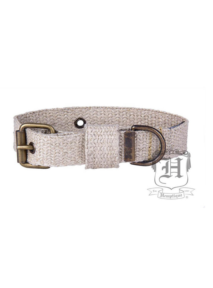 Hemptique hemp dog collar 53 cm in diameter