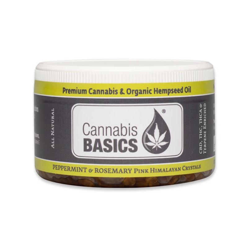 Cannabis Basics Peppermint & Rosemary Pink Himalayan Crystals