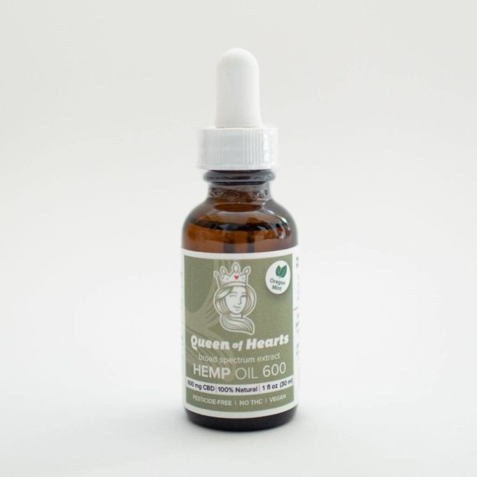queen of hearts cbd tincture broad spectrum thc-free 600 mg