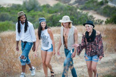 Friends wearing hemp apparel
